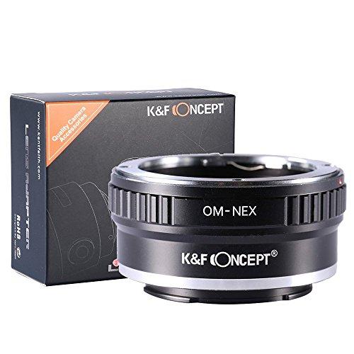 K&F Concept マウントアダプター 一眼レフカメラ用「OM-NEX」オリンパスOMマウントレンズ x SONY (α NEX) E...