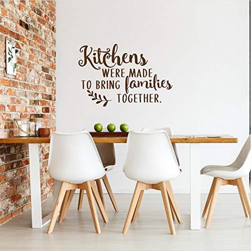 Cczxfcc, wandsticker, keuken, citaat, wand, vinyl, sticker, keuken, werd gemaakt om gezinnen samen te brengen, zagen wandposter 42 x 28 cm