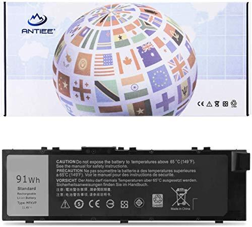 91Wh MFKVP Laptop Battery for Dell Precision 15 7510 7520 17 7710 7720 M7510 M7710 Series M28DH 1G9VM T05W1 451-BBSB 451-BBSF GR5D3 RDYCT 11.4V 6Cell