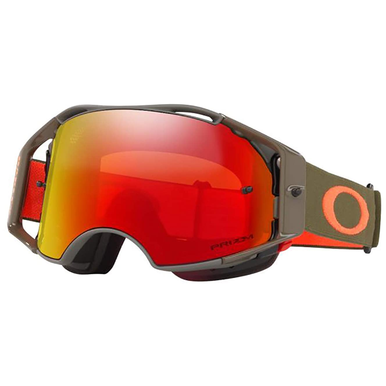 Oakley Airbrake Men's MTB Off-Road Cycling Goggles - Dark Brush Orange/Prizm Trail Torch Iridium/One Size