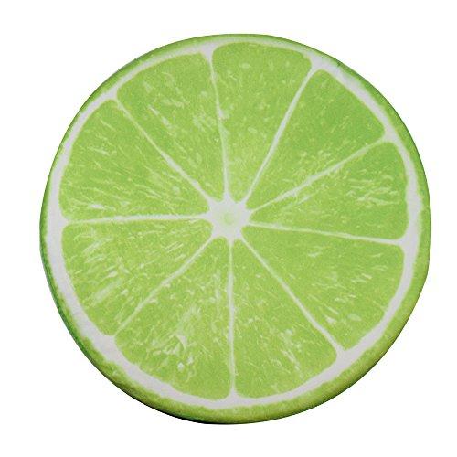 FLAMEER Sitzkissen Früchte Stuhlkissen Obst Dekokissen rund Stuhl Kissen Deko Stuhlauflage füt Wohnzimmer Kinderzimmer Garten - Lemon