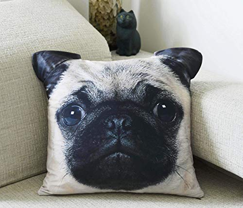 Pug Dog Pet Pillow Case Cushion Cover 18 x 18 inches