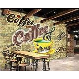 Zybnb Café Bar Tema Fondo Pared 3DRestaurante Decoración Fondos de pantalla Mural Postre Tienda Papel tapiz