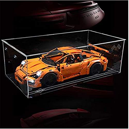 Caja de exhibición de acrílico, escaparate Escaparate de acrílico para bloques de construcción Modelo compatible con Technic 42056 Porsche 911 - Caja de acrílico transparente (no incluye el modelo)
