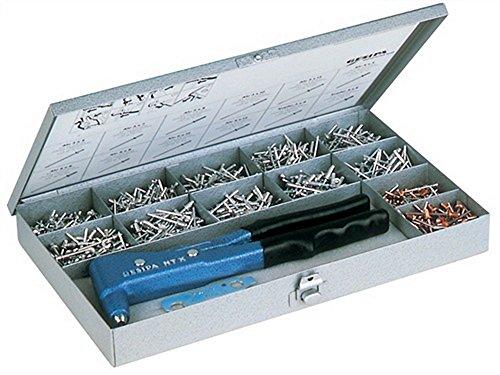 Blindnietset m.Zange NTX 2,4-5mm 950tlg. Gr.340x205x40mm GESIPA i.Blechkoffer