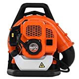2.3Hp Gas Powered Backpack Leaf Blower, 2-Cycle Engine Back Pack Leaf Blower,63CC Gas Powered Cordless Leaf Blower,210 Mph Air Speed, for Yard Cleaning Lawn Care (A)
