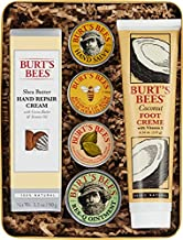 Burt's Bees Classics Gift Set, 6 Products in Giftable Tin – Cuticle Cream, Hand Salve, Lip Balm, Res-Q Ointment, Hand Repair Cream and Foot Cream