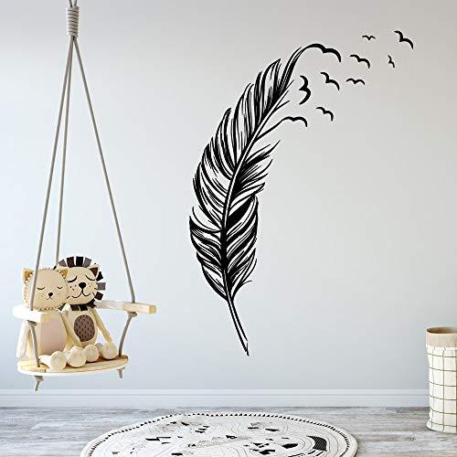 Tianpengyuanshuai Kreative Feder Familie Wandaufkleber Kunst Aufkleber 33X48cm