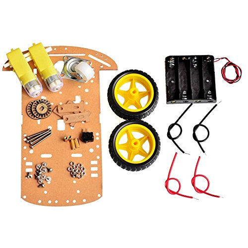 Frog Studio Home Wangdd22 2WD Motor Smart Robot Car Chassis Kit Speed Encoder Battery Box for Arduino