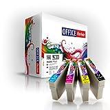 Multipack 10 Cartuchos de tinta compatibles para Epson T0715 con la viruta para Epson Stylus D120 / D78 / D92 / DX4000 / DX4050 / DX4400 / DX5000 / DX6000 / DX6050 / DX7000F / DX7400 / DX7450 / DX8400 / DX8450 / DX9400F, BX300F / BX600FW, S20 / S21 / SX100 / SX105 / SX110 / SX115 / SX200 / SX205 / SX210 / SX215 / SX400 / SX405 / SX410 / SX415 / SX510W / SX515W / SX600FW / SX610FW
