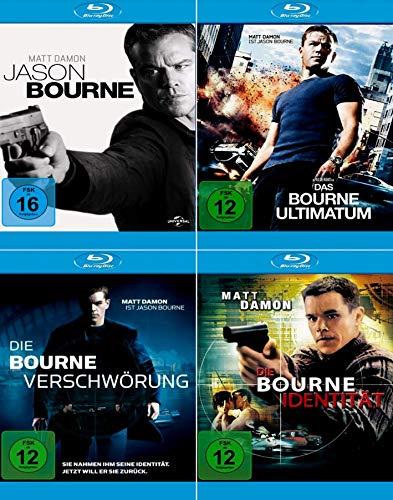 Jason Bourne Collection: Identität + Ultimatum + Verschwörung + Jason Bourne [4-Blu-ray] Keine Box