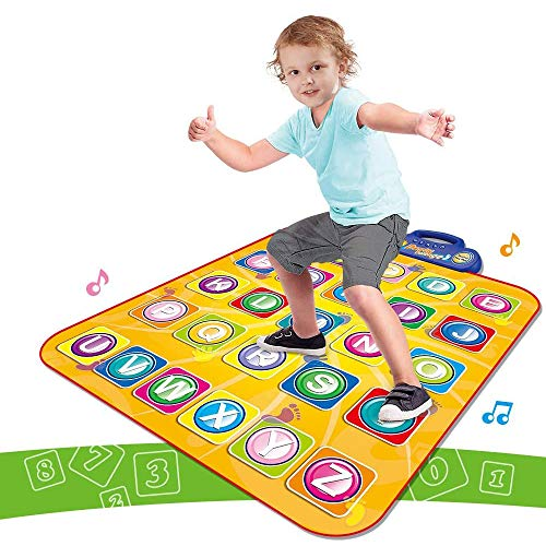 LeQi Piano Mat Carpet Kids Electronic Interactive Alphabet Wall Chart Touch Musical Mats Dance Floor Playmat Best Educational Toys for Baby Toddler Infants Girls Boys