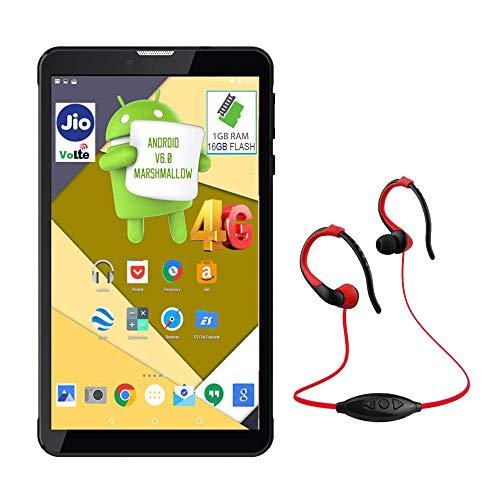IKALL N4 8GB Dual Sim 4G Calling Tablet with Neckband Black
