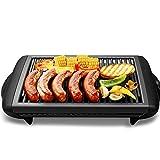 Teppanyaki Électrique D'intérieur De 1200W Griddle Classique Plaque Barbecue Grill Température Réglable...