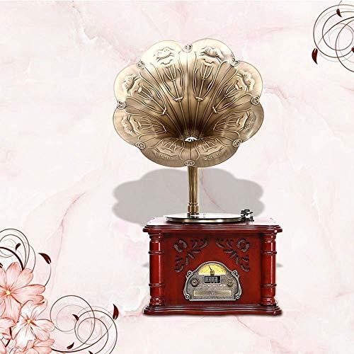 TIANYOU Retro Retro Vinyl Gramophone Re Altavoz Estéreo Fonógrafo Máquina Trasálgica Phonograph Phonograph Decoración 49 * 44 * 90 cm Calidad de sonido sin pérdida / 2