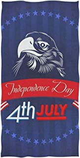 Love beautiful Fourth of July USA Independence Day Hand Towels Cotton Washcloths Face Cloth Soft Wash Cloths for Home Kitchen Bathroom Spa Gym Swim Hotel Use