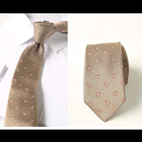 WUNDEPYTIE Herren Und Damen Casual Cashew Camouflage Krawatte Schmaler Krawatte 6Cm Kragen
