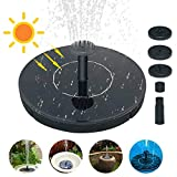 160L/H Solar Fountain Pump 1.4W Circle Solar Water Pump Floating Fountain Built-in Battery, Garden Watering...
