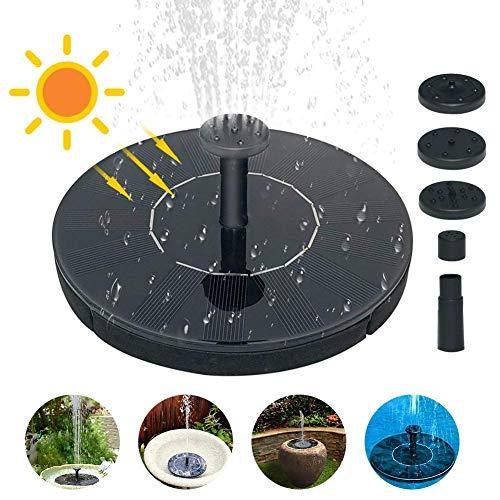 luckything Solar Springbrunnen, Solar Teichpumpe Garten Wasserpumpe Solarpumpe Mit 1.4W Monokristallines Solarpanel, Schwimmender Dekoration Für Garten, Kleiner Teich, Vogelbad, Fisch-Getränke, Pool