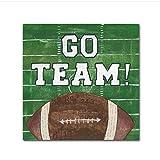 WTHKL Mur Art Toile Aller Équipe Décor À La Maison Rugby Peinture Ballon HD Imprimer Affiches Modernes Jeu Cadeaux Photos Salon -50x70 Cm No Frame 1 PCS