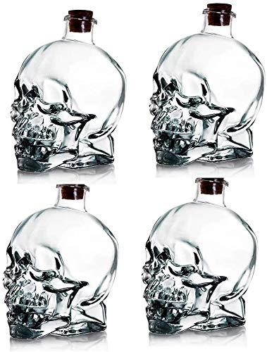 Vivalto Conjunto de Licorera de Cristal Grabada con 4 Vasos de Chupito