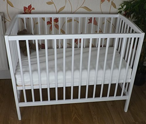Space Saver Small COT 4 Baby / + Mattress/White/Little Cot / 100 x 52.5 cm/Perfect for Small Rooms …