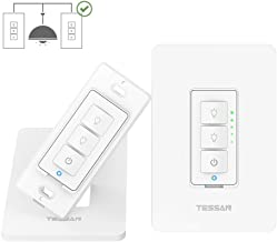 3 Way Smart Dimmer Switch for Dimmable LED Lights, WiFi Light Switch Compatible with Alexa and Google Home, Neutral Wire Required, Smart Life APP - White