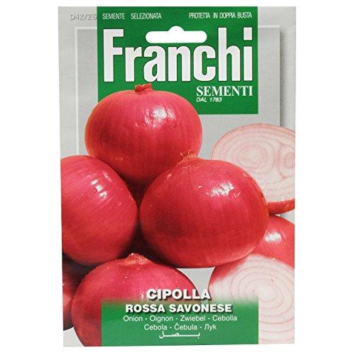Seeds of Italy Ltd Franchi Sachet de graines d'oignon Rouge de Savon