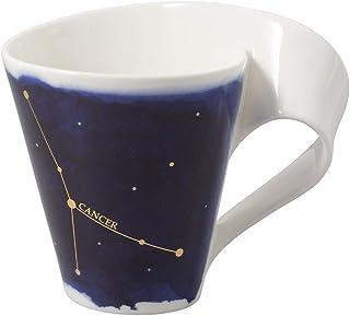 Villeroy & Boch 10-1616-5816 NewWave Stars Mug avec Anse, Tasse élégante à Motif Cancer, Porcelaine Premium, adapté au Lav...