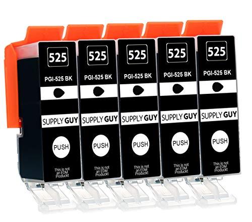 Supply Guy 5 Druckerpatronen mit Chip kompatibel mit Canon PGI-525 PGBK für IP-4850 IP-4950 IX-6550 MG-5150 MG-5250 MG-5340 MG-5350 MG-6150 MG-6250 MG-8150 MG-8240 MG-8250 MX-715 MX-885 MX-895