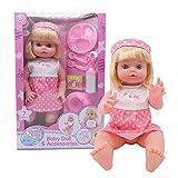 Domybest Bambola Reborn Bambino Bambola di Simulazione Bambola Realistica in Vinile Morbido Bambole Appena Nate Reborn Giocattolo per Bambini Regalo per Natale Compleanno