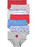Carter's Girls' Little 7-Pack Underwear, Ladybug, 6/6X