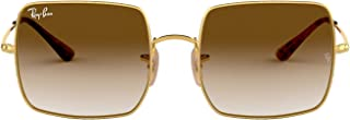 Ray-Ban Square Sunglasses, Gold, 54 mm