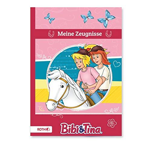 ROTH Carpeta para certificados A4 Bibi & Tina / caballo, 10 compartimentos para hasta 20 certificados, indeleble