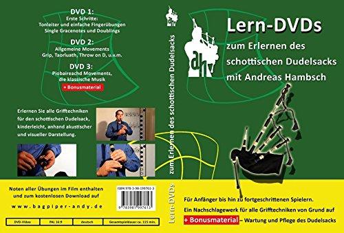 Lern-DVDs Dudelsack - Richtige Griffweise und Technik (grün), 3 DVDs