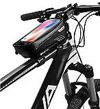 Bolsa para bicicleta (impermeable, soporte para teléfono o bicicleta, marco con pantalla táctil sensible, manillar de bicicleta, manillar de bicicleta de montaña, moto, gran capacidad para smartphone