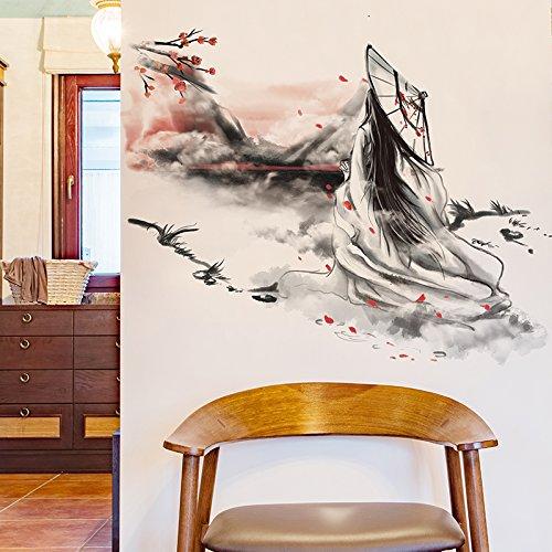 HCCY De oude Chinese behang muur sticker behang college slaapzaal slaapzaal persoonlijkheid prachtig versierd met oude mensen posters 86 * 67cm