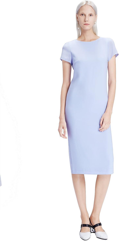My Bun Summer Slim Fit Casual Womens Short Sleeve Side Split Dresses