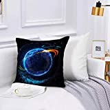 Lilatomer Funda de algodón,45 x 45 cm, Espacio Exterior Arte Universo Resumen Nebulosa Galaxia Chakra Infinito Psicodélico Fot Sofá Throw Cojín Almohada Caso de la Cubierta para Sala de Estar 45x45cm