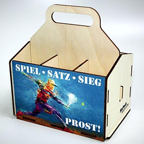 Bierträger aus Holz - SixPack - Fischen - Geschenke für Männer - Grillen - Jagen (Spiel - Satz - Sieg)