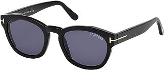 Tom Ford Wayfarer Unisex Sunglasses - Blue Lens, FT0590-01V