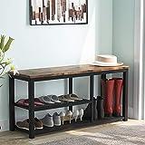 Tribesigns - Banco de zapatos con estantes de malla de almacenamiento para entrada, dormitorio, sala de estar, 100 x 30 x 50 cm