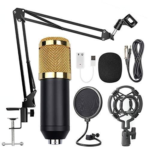 BM800 Professionele suspension microfoon Kit Studio Live Stream Broadcasting opname condensatormicrofoon set zwart & goud