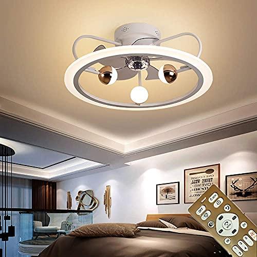 Ventiladores para el techo con lámpara con luz LED y control remoto regulable para sala de estar Ventiladores para el techo con lámpara moderno Lámpara con iluminación Luces de techo con velocidad
