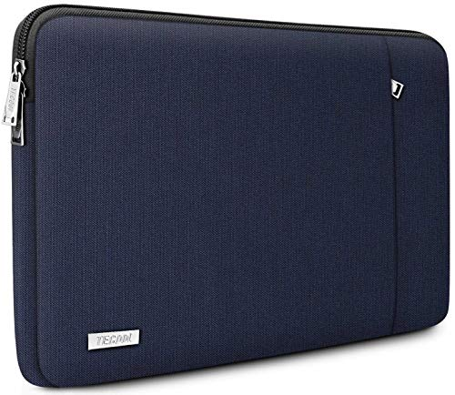 TECOOL 12.3-13 inch Laptop Sleeve Case, Protective Cover for 2018 2019 2020 MacBook Air/Pro 13 Inch, HP Envy 13, Dell XPS 13, 12.3 Inch Surface Pro 7/6/5/4, 12.9 iPad Pro, Dark Blue