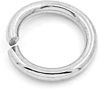 Valyria 500pcs Silver Tone Stainless Steel Open Jump Rings Connectors Jewelry Findings 8mm Dia.(3/8