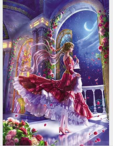 Ymran 5D Doe-het-zelf diamantschilderij needleworks kruissteek, drijvend prinses engel volledige strass boormachine borduurwerk mozaïek decoratie thuis cadeau