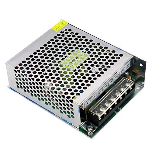 Lilideni AC 100-240V a DC 24V 5A 120W Transformador de Voltaje Conmutación regulada Fuentes de alimentación Adaptador Convertidor para Tiras Cámara de luz Proyecto de computadora Radio