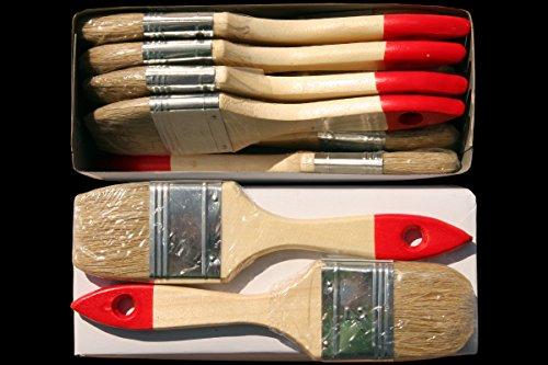 96 x Flachpinsel 50 mm Chinaborste hell Maler Lack Lasur Abwasch Allzweck Einweg Industrie Pinsel Lasurpinsel Lackpinsel