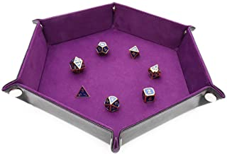 STYLIFING Dice Tray Metal Dice Rolling Tray for RPG, DND and Other Table Games, Holder Storage Box for Dice Set, Double Si...